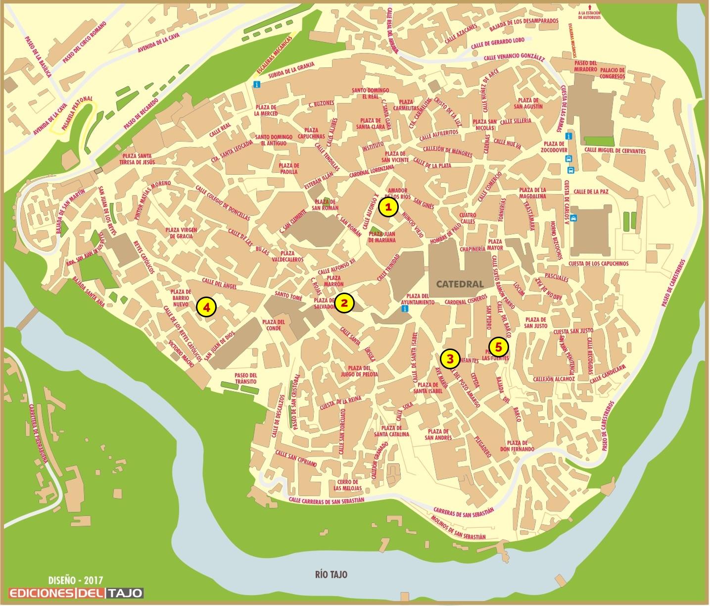 Plano ruta Toledo Arqueológico