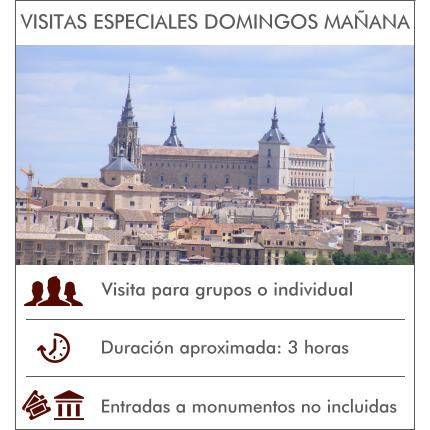 Visitas Guiadas Toledo - Visitas especiales los domingos por la mañana